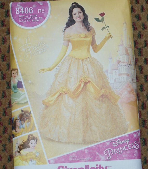 New Simplicity Adult Costume Disney Princess Belle Pattern 8406 Size ...