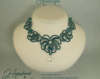Arabesque, needle tatting necklace , pattern