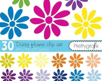 80% OFF SALE 30 flower daisy clipart commercial use, vector graphics, digital clip art, digital images - CL461