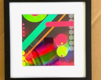 framed rainbow collage