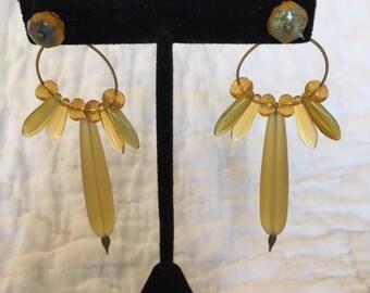 Desert Gold Sea Glass Earring Jackets