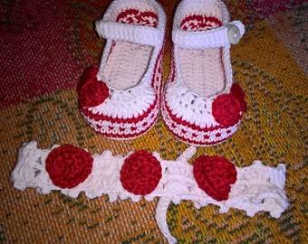 Elegant Baby Shoes and Headband