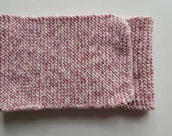 Girl pink Heather white cotton scarf