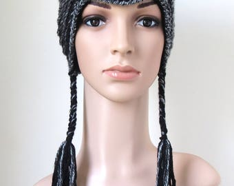 Black Cat Hat, Womens Cat Ear Beanie, Cute Teen Girl Gift, Vegan Animal Hat