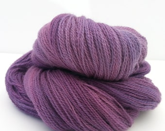 Laceweight Yarn: 440 yds Hand-dyed Tonal Rosy Plum
