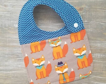 NEW: Infant Drool Bib- Dapper Fox