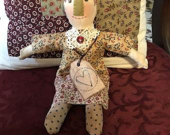 OOAK Primitive Folk Art Doll