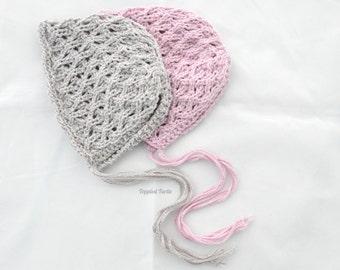 Vintage Lace Bonnet | Newborn Lace Bonnet | Newborn Photo Prop | Knit Lace Photo Prop | Newborn Bonnet | Newborn Lace Bonnet | Knit Bonnet
