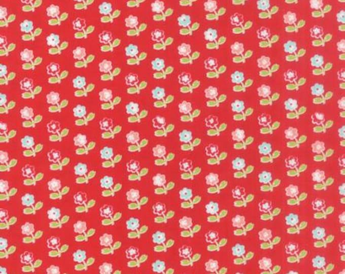 Vintage Picnic Floral Rosie Red - 1/2yd