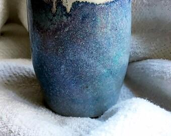 Small Handmade Blue Tumbler (Ceramic)