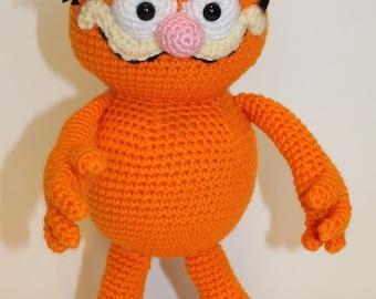 PDF PATTERN: Fat Orange Cat Crochet Pattern - Crochet Garfield