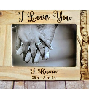 """Star Wars """"I Love You/I Know"""" Picture Frame - Wedding Frame - Christmas gift - star wars wedding - Unique wedding gift - Engagement gift"""
