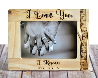 "Star Wars ""I Love You/I Know"" Picture Frame - Wedding Frame - Christmas gift - star wars wedding - Unique wedding gift - Engagement gift"