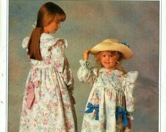 Butterick 5198 HOLLY HOBBIE Dress Petticoat Long Pants Child & Doll garments Sizes 2 - 3 - 4 - 5 - 6  ©1990