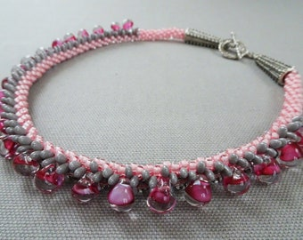 Cotton Candy Kumihimo Necklace