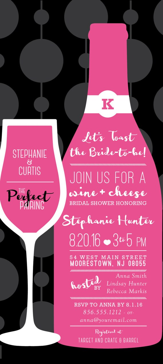Bridal shower invitation wine a perfect pairing wine bridal shower invitation wine a perfect pairing wine tasting wedding shower personalized printable file or print package 00189 pia filmwisefo Image collections