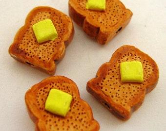 4 Tiny Toast  Beads