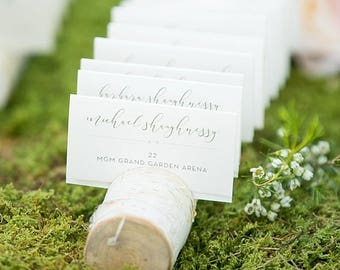 Birch Woodsy  Name Card Escort Card Holder for Weddings, Business, Crafters, Artists
