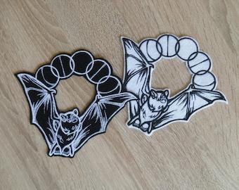 Bats patches  Lunar patch  Iron on Patch Lunar Phase Bat
