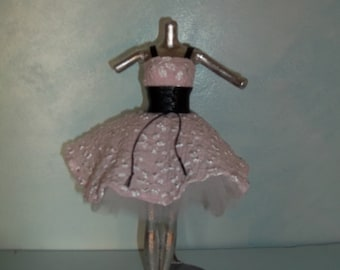 Barbie Leather and Pink Lace