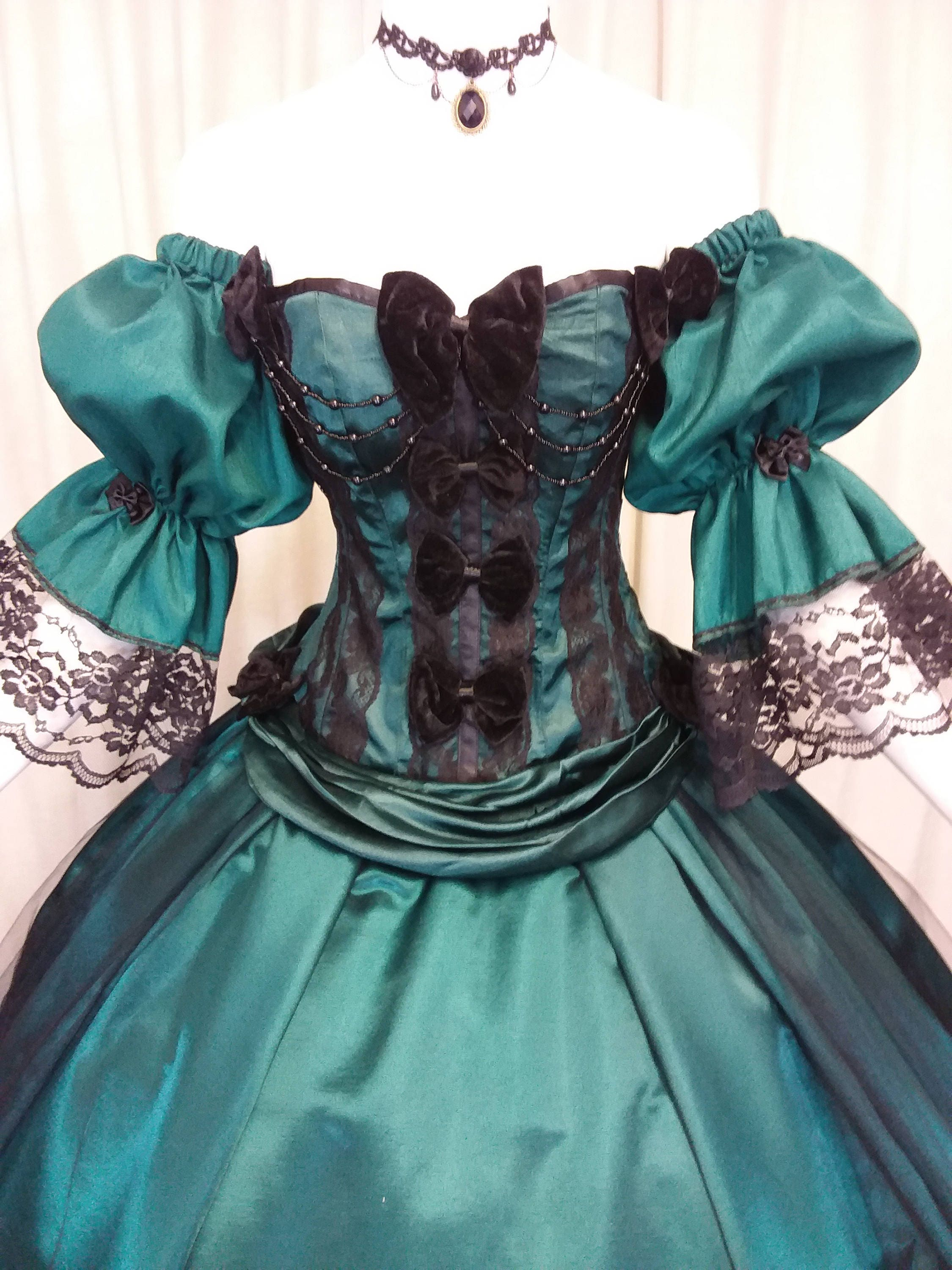 Halloween ball gown Victorian ballgown alternative wedding