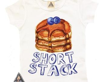Short Stack Pancake Funny kids shirt / pancakes brunch breakfast foodie kids shirt / Newborn bodysuit