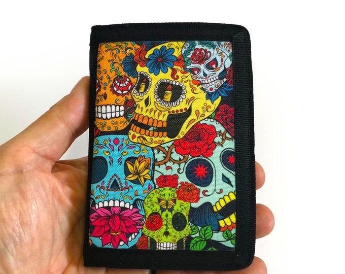 Canvas Wallet Sugar Skull dia de los muertos Sublimation Gift for Friend