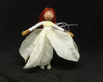 Christmas Flower Fairy - Waldorf Flower Fairy Doll - Poinsettia Flower Fairy