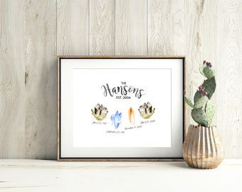 Personalized Family Birth Stone Print
