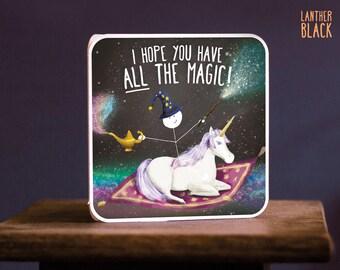 Funny Birthday card / Magic birthday card / Unicorn birthday card / Daughter birthday card / Best friend birthday / All the magic / SM58