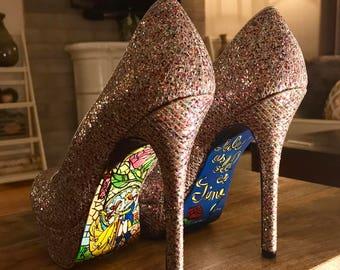 Beauty and the Beast heels