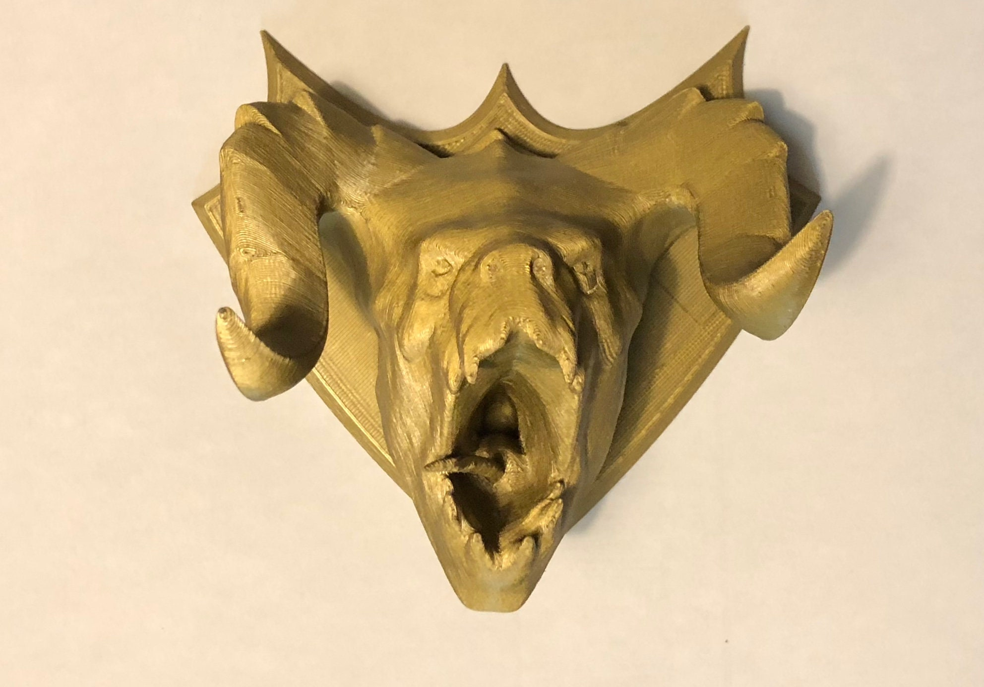Mounted Deathclaw Head Hunting Trophy inspired by Fallout