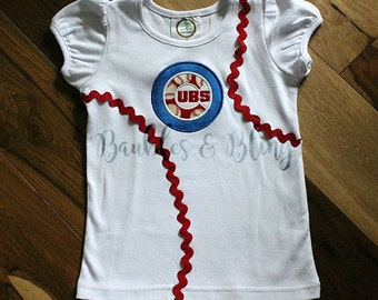 Chicago Cubs Baseball Custom Made Toddlers T-Shirt Any Size