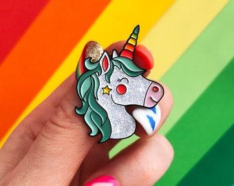 Mint Shine Unicorn, enamel pin