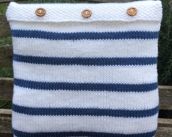 SALE PRICE Hand knitted cushion cover