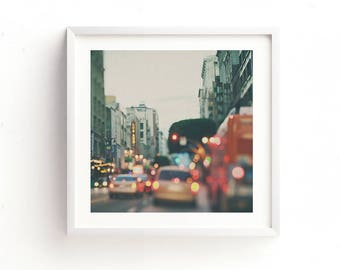 framed LA photograph, Los Angeles print, DTLA art, LA photography, California wall art, framed print, bokeh photo, loft decor, ready to hang