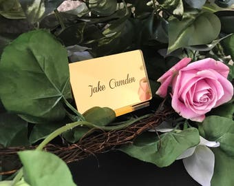 Acrylic Place Cards,Etched Acrylic Place Setting,Escort Card,Wedding Decor,Perfect Weddings,Place Cards,Lucite,Wedding Decor,Wedding Signs