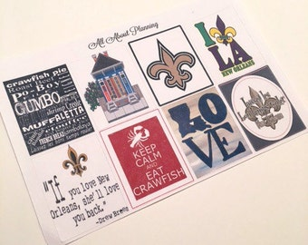 New Orleans Full Box Planner Stickers