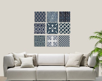 Wall art canvas Set.Set of 9 canvas pictures.Wall Art.wall decor.Home Decor Set.Gift new home.Canvas paintings.Wall decoration