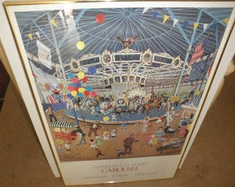 "Karl Doerflinger ""Carousel"" Print Signed and Numbered 1988"