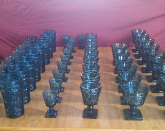 Vintage glassware - Park Lane by Colony. Huge lot of 48 pieces.