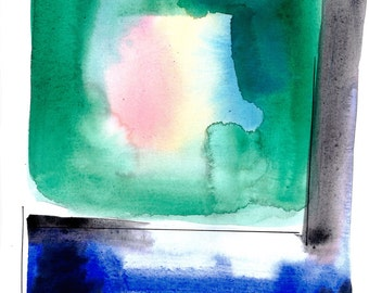 Watercolor Abstraction 128 .. Original abstract watercolor painting by Kathy Morton Stanion EBSQ