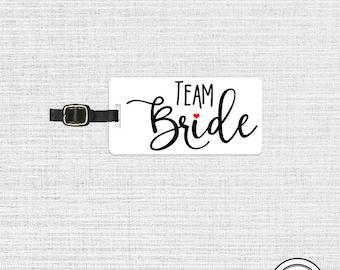 Team Bride Luggage Tag Metal Tag Single Tag Bridesmaids, Maid or Matron of Honor, Man of Honor wedding party gift