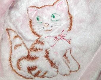 Kitten Baby Blanket   Baby Blanket Girl   Kitten Pink Blanket   Baby Girl Shower Gift   Baby Girl Gift   Personalized Baby Gift   Baby Girl