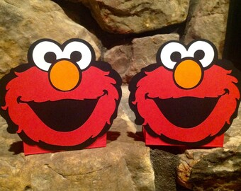Elmo Sesame Street Centerpiece Balloon Holders birthday party SET of 2