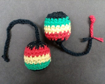 Rasta Kitty Crochet Organic Catnip Toy, Cat toys