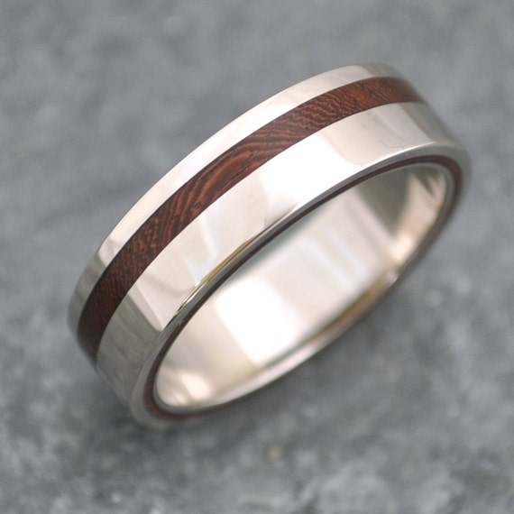equinox nacascolo wood ring with recycled silver ecofriendly wedding band wood wedding ring mens wood wedding ring womens wood ring - Wooden Wedding Rings