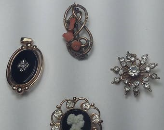 Antique Brooches and Necklace Pendant