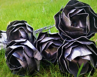 Raw Steel Hand Forged Forever Rose