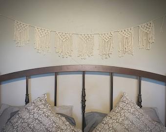 Rope Bunting//Macrame Garland//Boho Garland//Macrame Bunting//Boho Banner//Rope Garland//String Garland//Party Garland//Dorm Room Decor//